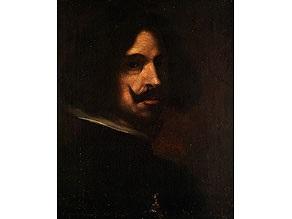 halbbildnis mit bart und weissem kragen, vor dunklem hintergrund by diego rodríguez de silva y velásquez