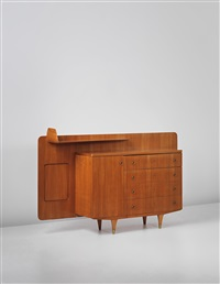 rare sideboard with integrated shelf by gio ponti