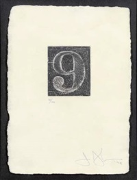 9 (from numerals) by jasper johns