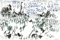 vernis mou (portfolio of 16 and 1 pen and ink drawing) by otto niemeyer-holstein