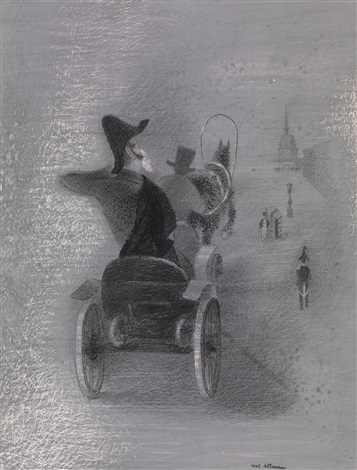 riding in the kibitka for the nose by n gogol by natan isaevich altman