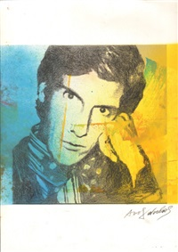 saint laurent paper silk screen by andy warhol