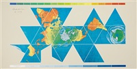 unique dymaxion airocean world map, for the third national bank, dayton by buckminster fuller