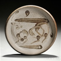 ceramic dish by peter voulkos