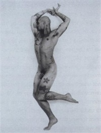 anonyme, portrait de serge lifar, ca 1930; iggy pop, 1969, live, ca 1980 by jean-luc verna
