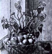 hedelmämalja ikkunalaudalla by väinö kamppuri