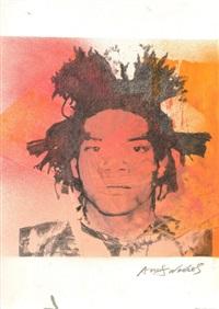 jean-michel basquiat paper silk screen by andy warhol