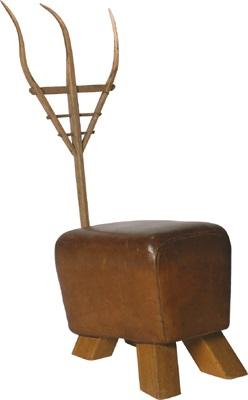 Gabelbock-Sessel from Möbel aus Turngeräten von Helmut Palla auf artnet