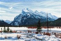 mount rundle by jean pilch
