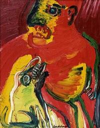 homme avec chien by bengt lindström
