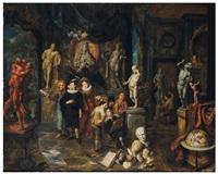 la visite de l'atelier by balthasar van den bossche