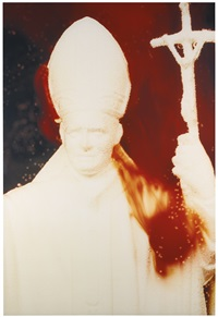 white pope immersion by andres serrano