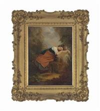 an italian peasant girl asleep in the campagna by sir charles lock eastlake