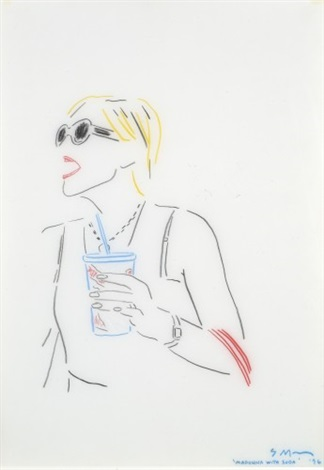 madonna with soda by sarah morris