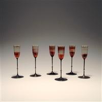 sechs liqueurgläser im etui (set of 6) by karl g. koepping