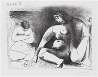 deux femmes accroupies by pablo picasso