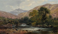 snowdon from the river glaslyn by john gunson atkinson