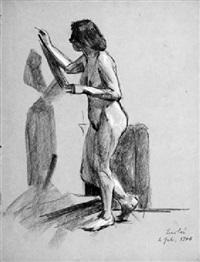männliche und weibliche akte (5 works) by franz nölken