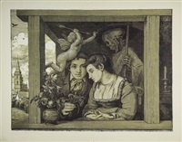 amor und tod by hans thoma