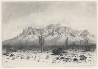superstition mountain, apache trail, arizona by george elbert burr