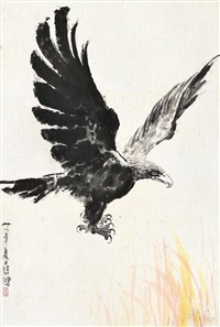 eagle by xu beihong