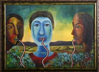 tres cabezas by rodolfo morales