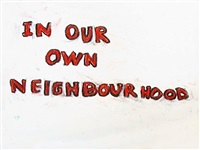 in our own neighbourhood (music by hans berg) by nathalie djurberg