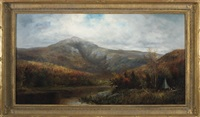 autumn view in the white mountains, with hunters by william h. hillard