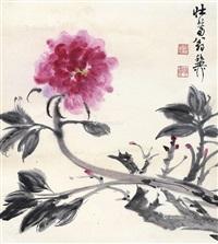花卉 立轴 纸本 by xie zhiliu