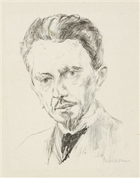 portrait wilhelm bode (+ portrait karl scheffler; 2 works) by max liebermann