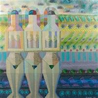 untitled - three female figures by robert e. amft