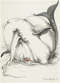the beached white whale (heath blubberatus) by gerald scarfe