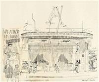 athen's cinema by paul hogarth