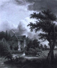 the old mill at rye, sussex by elias childe