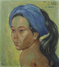 portrait of a balinese woman by han snel