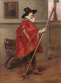 cavalier in interior by alex de andries