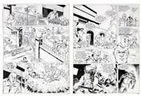 johnny congo, planches n°3 et 4 à l'encre de chine de l'épisode