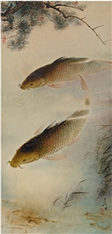 a pair of carps by lee man fong