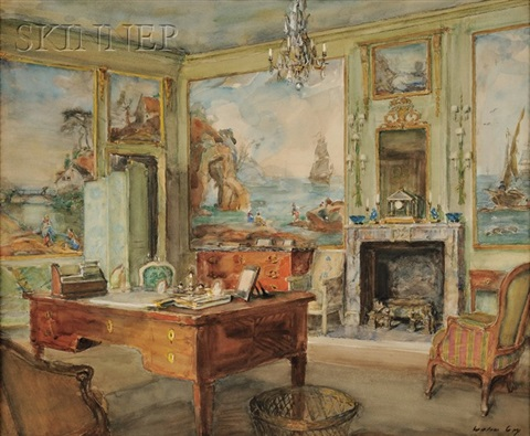 view of a french interior by walter gay