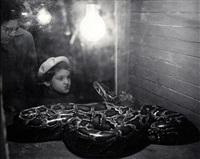 ohne titel (mädchen mit schlange) by tibor honty