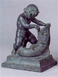 putto med delfin by alfred ohlson