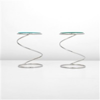 spring end/side tables (pair) by pace manufacturing (co.)