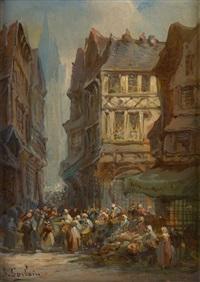 vue du marché by paul denarie