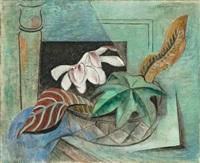 blätter und magnolien by friedrich (fritz) ahlers-hestermann