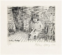 child cutting by milton avery