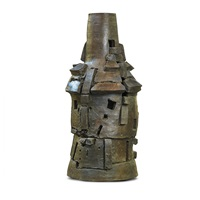 monumental anasazi s13 stack pot by peter voulkos