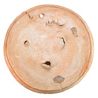 unglazed charger by peter voulkos