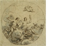 zephyrus and flora: design for a circular ceiling by sir james thornhill