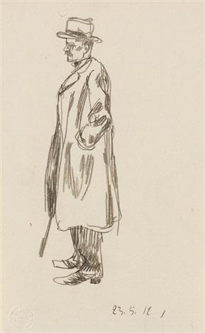 mann mit regenschirm by george grosz