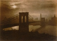 city of golden dreams (brooklyn bridge) by george w. french